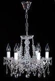 Crystal Chandelier Groupe de cristaux accrochants images stock