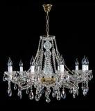 Crystal Chandelier Groupe de cristaux accrochants photo libre de droits