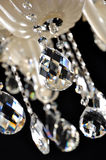 Crystal chandelier hanging on ceilingCrystals of modern Chandelier.Selective focus Royalty Free Stock Photos