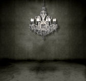 Crystal Chandelier In A Room Royalty Free Stock Photo