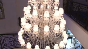 Crystal Chandelier stock video footage