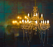 Crystal chandelier lighting Stock Images