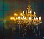 Crystal chandelier lighting Stock Images