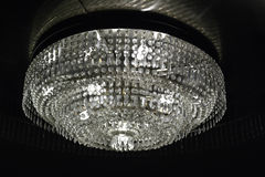 Crystal chandelier. In the lobby Stock Images