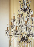 Crystal chandelier Luxury Interior decoration object Stock Photo