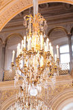 Crystal chandelier, luxury light equipment. Vintage Royalty Free Stock Photos