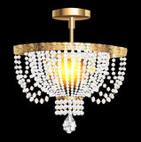 Crystal chandelier with modern pendants Stock Image