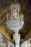 Crystal chandelier and painted ceiling Royalty Free Stock Images