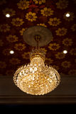 Crystal chandelier in a room Royalty Free Stock Photos