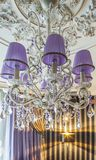 Crystal chandelier with shade Royalty Free Stock Photos