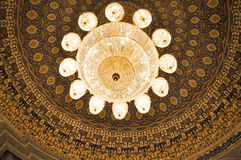Crystal chandelier of State Museum of History of Timurids, Tashke stock images