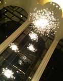 Crystal Chandeliers Photo stock