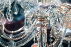 Crystal chandeliers. Detail with lots of beautiful finishes Royalty Free Stock Photography