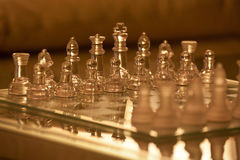 Crystal chess Royalty Free Stock Photos