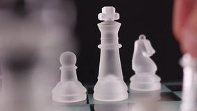 Crystal chess Stock Photography
