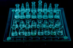 Crystal chess prepare battle Stock Photos