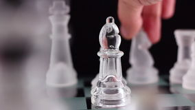 Crystal chess stock video footage