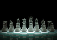 Crystal chessfigures Royalty Free Stock Photos