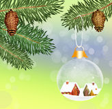 Crystal Christmas balls Stock Images
