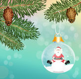 Crystal Christmas balls Royalty Free Stock Photo