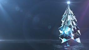 Crystal Christmas-boom stock illustratie