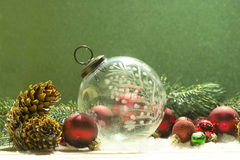 Crystal Christmas Ornament antigo Fotografia de Stock