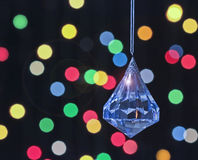 A Crystal Christmas Ornament with Lens Flare Stock Images