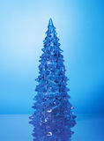 Crystal Christmas tree on blue background Royalty Free Stock Photo