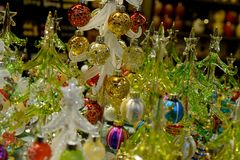 Crystal Christmas Trees Arkivfoto