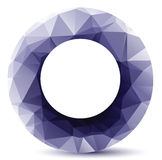 Crystal circle Royalty Free Stock Photo