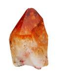 Crystal Citrine su un fondo bianco Fotografia Stock
