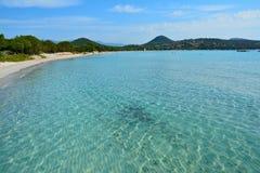 Crystal Clear Beach Corsica fotografia de stock
