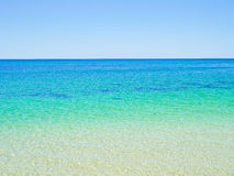 Crystal clear blue ocean water Royalty Free Stock Image