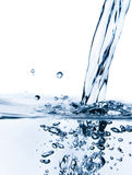 Crystal-clear flowing water Royalty Free Stock Image