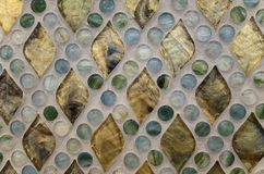 Crystal clear glass mosaic pattern Stock Photos