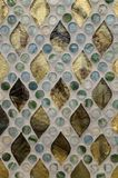 Crystal clear glass mosaic pattern Stock Photography