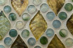 Crystal clear glass mosaic pattern Stock Photo