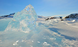 Crystal clear ice Stock Image