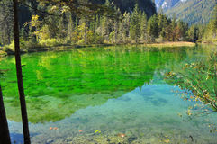 Crystal clear lake in Austria Stock Images