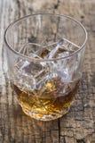 Crystal clear luxury glass with liquor Stock Photos