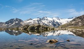 Crystal clear mountain lake Royalty Free Stock Photos