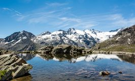 Crystal clear mountain lake Stock Photography