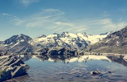 Crystal clear mountain lake Royalty Free Stock Image