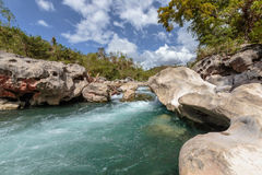 Crystal clear mountain river Royalty Free Stock Photography