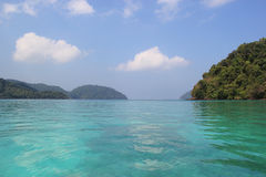 Crystal Clear Ocean of Surin Islands, Thailand Royalty Free Stock Images
