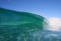 Crystal clear ocean wave royalty free stock photography