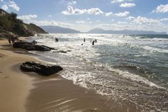 Crystal Clear Sea And Frothy Waves On The Beaches Of In Sicily Royalty Free Stock Photo