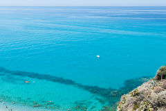 Crystal clear sea near the town of Tropea region Calabria - Italy Stock Image