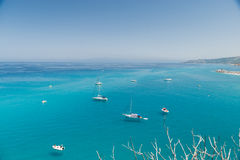 Crystal clear sea near the town of Tropea region Calabria - Italy Stock Photos
