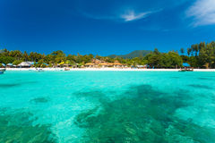 Crystal Clear Sea Resort Island Paradise Stock Image